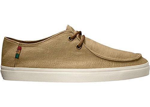 Hemp Skate Shoes (Vans Rata Vulc SF (Hemp Khaki/Rasta) Mens Skate Shoes-13)