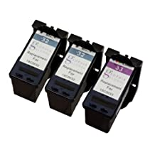 Sophia Global Remanufactured Ink Cartridge Replacement for Lexmark 32 and Lexmark 33 (2 Black, 1 Color)