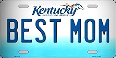 Best Mom Kentucky Novelty Metal License Platefor Home/Man Cave Decor by PrettyMerchant