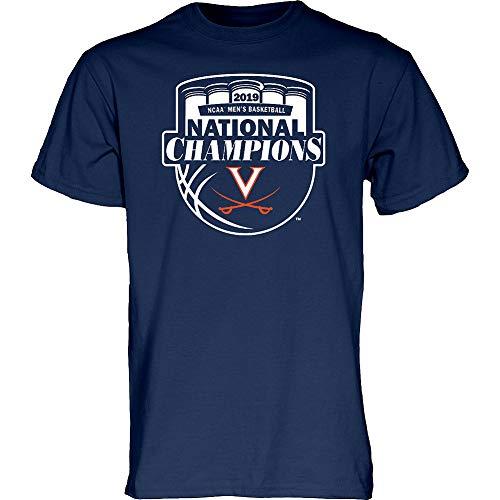 Elite Fan Shop Virginia Cavaliers National Basketball Champions Tshirt 2019 Official Logo Navy - XXL - Official Logo T-shirt