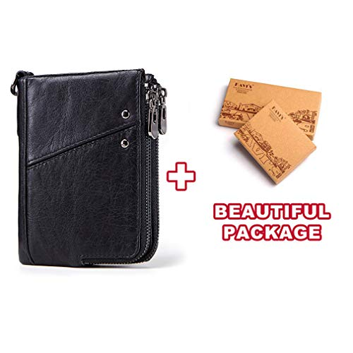 Rfid Leather Small Wallet Men Male Short Coin Purse Portfolio Card Holder ()