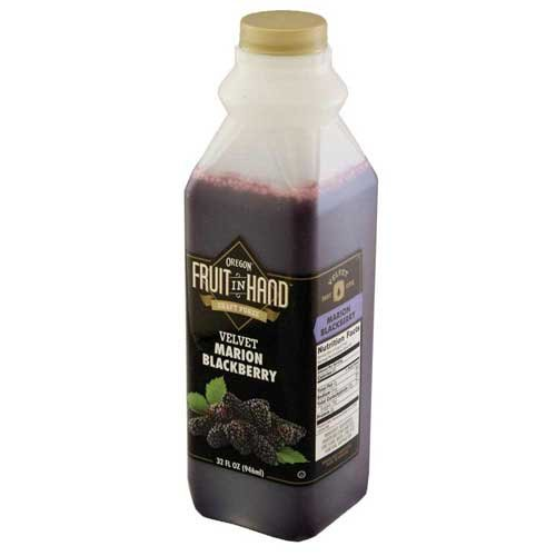 Fruit in Hand Marion Blackberry Craft Puree, 32 Fluid Ounce - 6 per case.