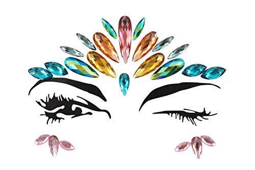 Halloween Crystal Temporary Eyes Tattoo Transfer Eyeshadow Eyeliner