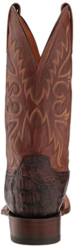 Bootboy Lucchese Uomo Pescatore Western Boot Barrel Brown / Tan Brunito