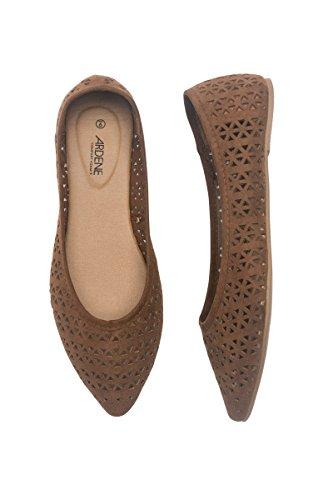 Ardene Women's - Pointy Flats - Laser Cut Flats 7 -(8A-FW00616)