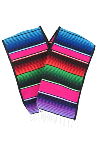 Leos Imports (TM) Mexican Sarape Serape Boys/Girls Poncho (Ages 6-10 Pinks) by Leos Imports