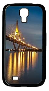 Bridge night Custom Samsung Galaxy I9500/Samsung Galaxy S4 Case Cover Polycarbonate Black