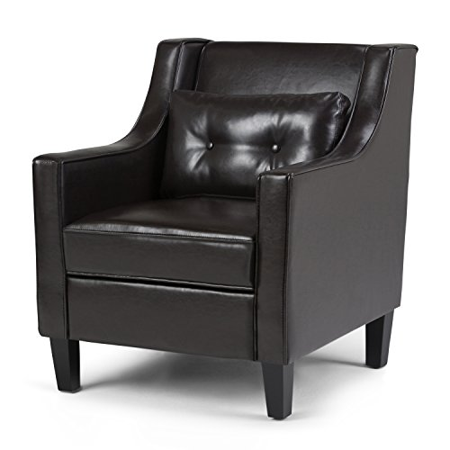 Simpli Home Ashland Club Chair, Tanners Brown - Tanner Living Room