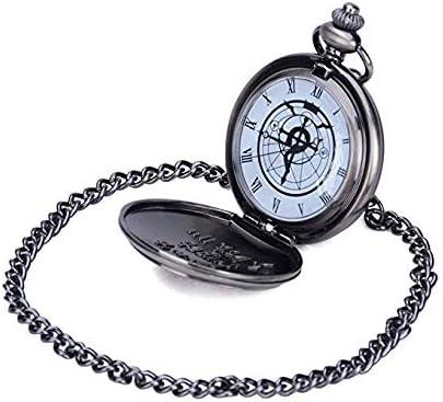 Fullmetal Alchemist Edward Elric Reloj de bolsillo gris oscuro: Amazon.es: Juguetes y juegos