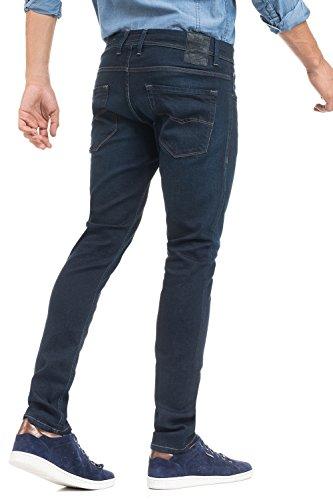 Salsa - Jeans Clash délavage foncé et jambe skinny - Homme - Bleu