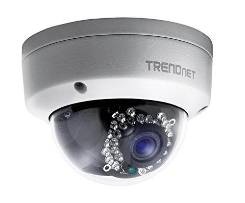 Ir Digital Cameras (TRENDnet Indoor/Outdoor 1.3 Megapixel HD PoE IR Dome Style Network Camera, Digital WDR, 720p, IP66 Rated Housing, 82ft. Night Vision, ONVIF, IPv6,)