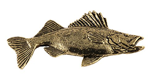 Walleye Yellow Pike Fish Premium 22k Gold Plated Rare Earth Refrigerator Magnet Gift, FG075PRM