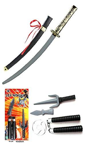 Kinder Samurai Spielzeug Karneval Verkleidung Set Ninja Schwert