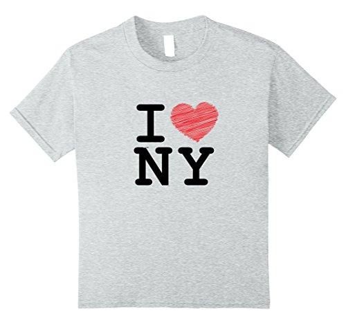Kids I love Newyork, T-shirt, Sleeveless, NY, Heart 12 Heather Grey by Jazzzz