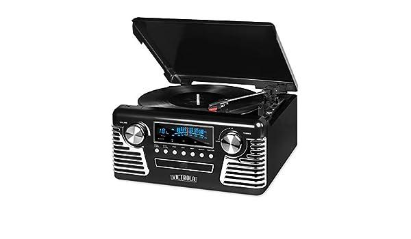 Victrola V50 - 200 Negro para Tocadiscos, Color Negro ...