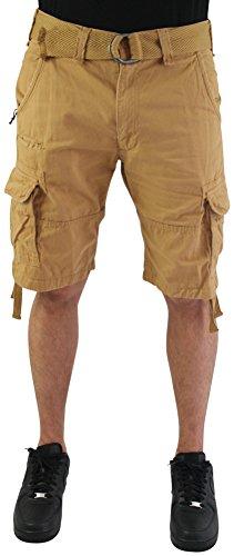 Jordan Craig Men's Twill Washed Cargo Shorts Belted Big & Tall
