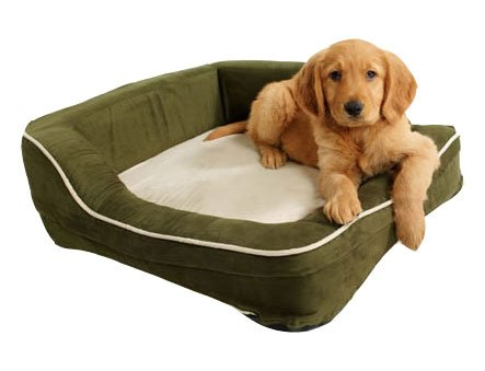 (Dolce Vita Therabed Heated Pet Bed - Rectangular Small 24