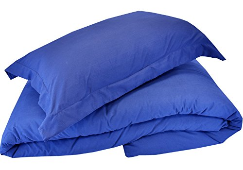 Mezzati Luxury Queen Duvet Cover - Soft and Comfortable 1800 Prestige Collection - Brushed Microfiber Bedding (Royal Blue, Queen Size) ()