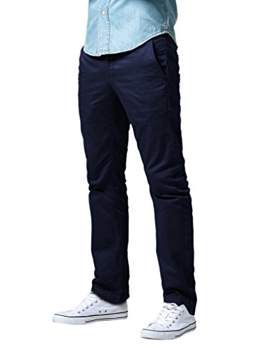 Match Men's Athletic Fit Straight Leg Casual Pants (30, 8089 Blue)
