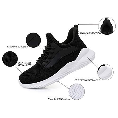 IPETSUN Womens Walking Shoes - Slip On Memory Foam Lightweight Breathable Mesh Running Sneakers for Gym Travel Work