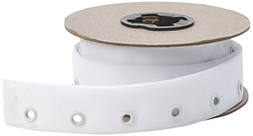 (Pearl Eyelet Side Seam Lacing Tape, 6 yd, White)