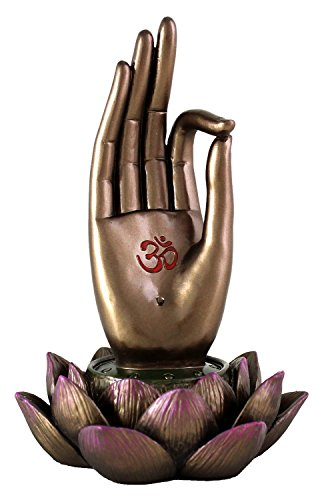 (Top Collection Buddha Hand and Lotus Flower Vitarka Mudra Incense Holder Incense Burner )