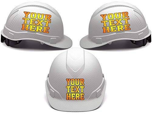 Custom Hard Hats - Personalized Text - Pyramex Ridgeline Cap Style 4 Point Ratchet Suspension