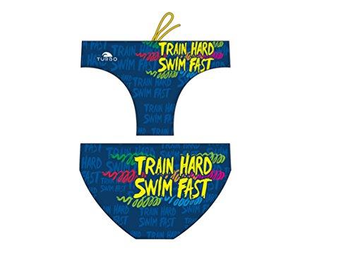 TURBO Badehose Herren SWIM FAST - Schwimmhose für Wettkampf Waterpolo Triathlon dunkelblau