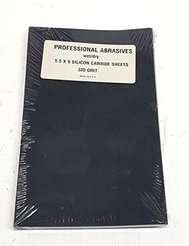 Wet/Dry 5.5 x 9 Silicon Carbide Sandpaper Sheets 320 Grit inchMade In The USA inch