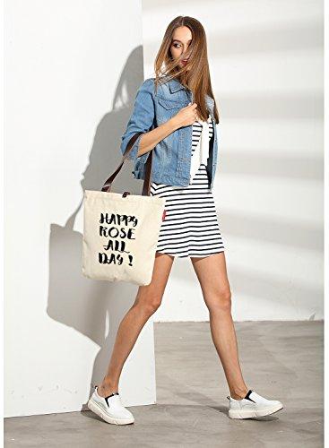 So'each Bolsa de tela y de playa, color natural (beige) - HBD-UK-107-BG color natural