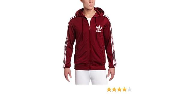 6bbe7987d6dccd Amazon.com  adidas Men s Adi Hooded Flock Track Top 2
