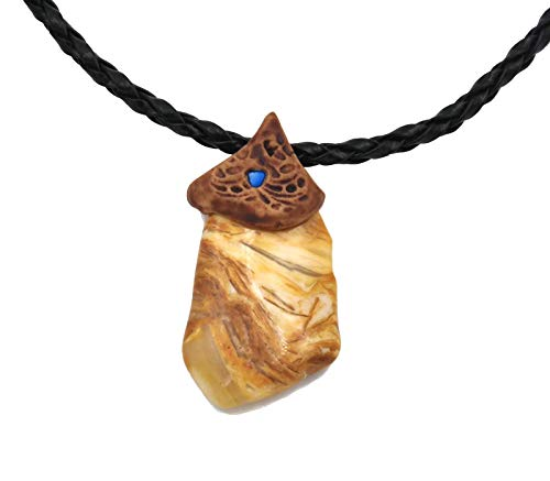 Smoky Quartz Jasper Yellow Crystals and Healing Stone Necklace, Surfers Necklace, Hand Made Art Unisex -