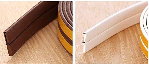 LIPOVOLT 6M I Type Foam Self Adhesive Window Door Excluder Seal Strip Rubber Tape Black