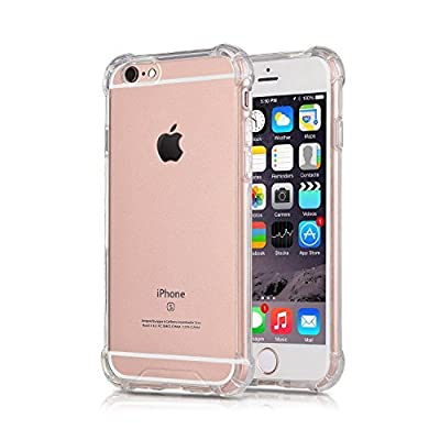 iPhone 6S Plus Case iPhone 6 Plus Case, CaseHQ Transparent Clear Enhanced Grip Protective Defender cover Soft TPU Shell Shock-Absorption Bumper Anti-Scratch Clear Back Air Cushioned 4 Corners