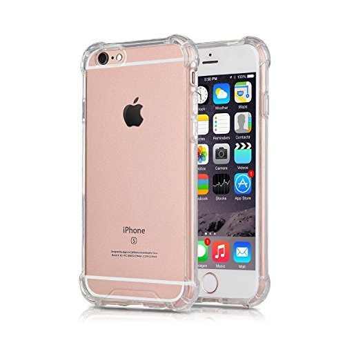 iPhone 6S Plus Case iPhone 6 Plus Case, CaseHQ Transparent Clear Enhanced Grip Protective Defender cover Soft TPU Shell Shock-Absorption Bumper Anti-Scratch Clear Back Air Cushioned 4 Corners (Jeweled Iphone 4 Case)