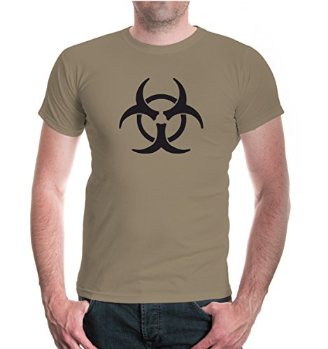 T-Shirt Biohazard-XXL-Khaki-Black