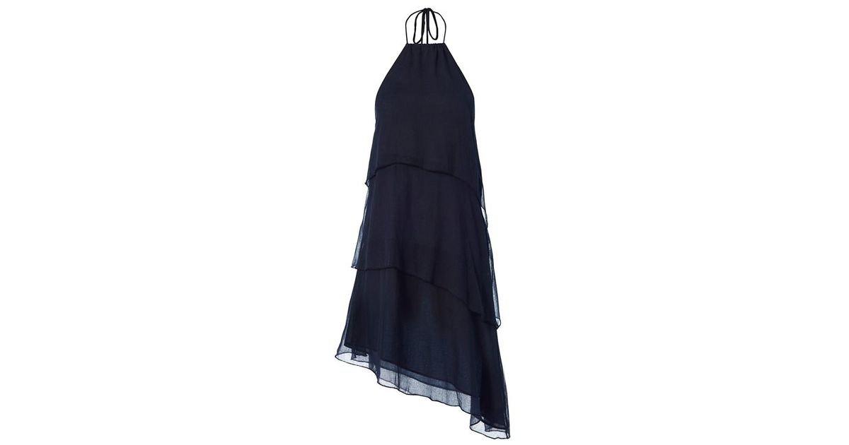 Love Sam Navy Tiered Mini Dress S