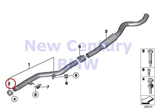 BMW Genuine Catalytic Converter/Front Silencer Muffler Clamp D=65MM 228i 228iX 228i 228iX 328i 328iX 320i 328i 328iX 428i 428iX 428i 428iX 328i 328iX 428i 428iX
