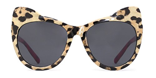 TIJN Pre-teens Girls Cateye Leopard Delicate Sunglasses for Kids Ages - For Teens Sunglasses Cool