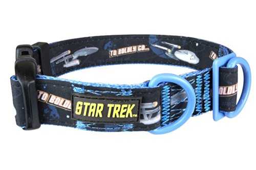Image of Star Trek Dog Collar Enterprise Small - Boldly go where no other dog has gone before