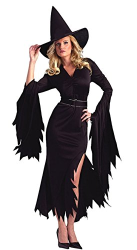 [Cohaco Women's Elegant Witch Costume (Gothic-L)] (Womens Deluxe Hooded Robe Costumes)