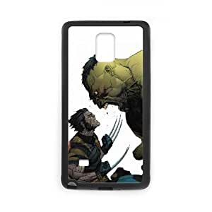 Angry Hulk Vs Wolverine Samsung Galaxy Note 4 Cell Phone Case Black toy pxf005_5856219