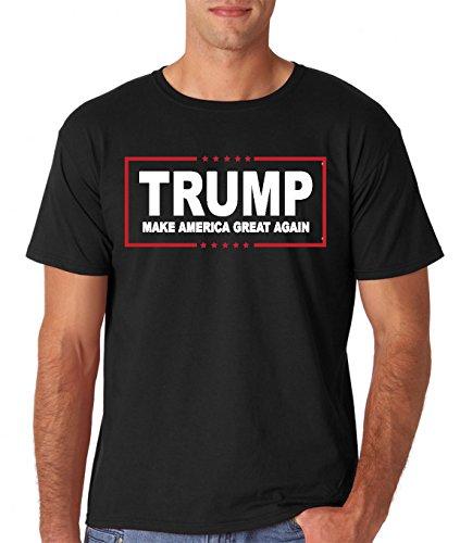 AW Fashions Men's Trump Make America Great Again T-Shirt(Black, Large)
