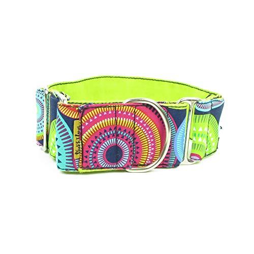 Multi Circles Coloured - ThePetLover TPL150024 Martingale Circles Multi-Coloured Collar for Dogs, S