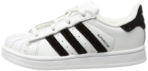 Adidassuperstar White I white black Unisex Superstar bambini Adidas dHxORvwd