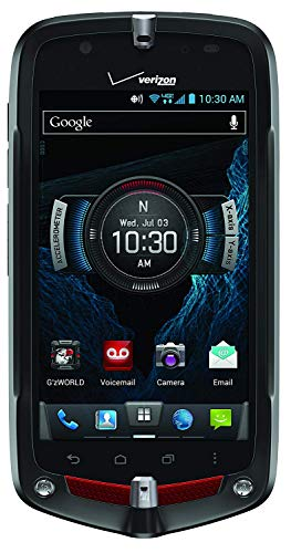 Casio G'zOne Commando C811 LTE 4G 16GB Rugged Android Phone for Verizon Wireless - Bulk Packaging - Black/Red