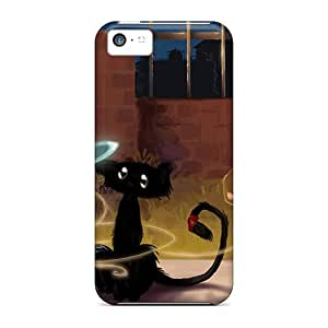 New JfFnrfW2601TFYdY Magic Cat Tpu Cover Case For Iphone 5c by icecream design