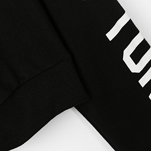 Chemisier Femme Pullover Shirt Sleeve Sweat Femmes Manches Beikoard Tops Sweat Casual Longues Tops Letters Long Noir Chemisier Amples nA1qYwYaB