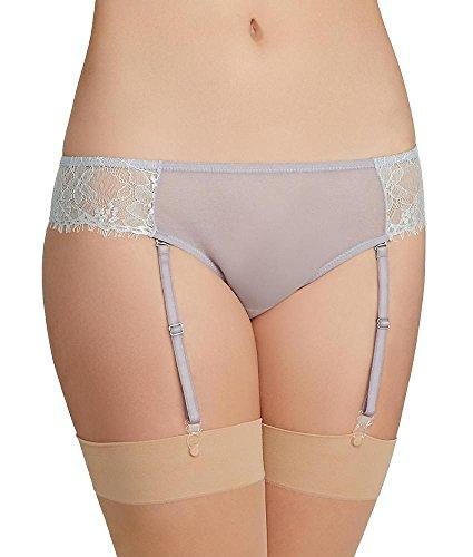 The Little Bra Company Catherine Garter Bikini, S, Mint/Wisteria