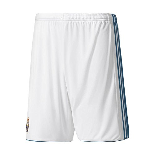 (adidas Real Madrid CF Home Shorts [White] (XL))
